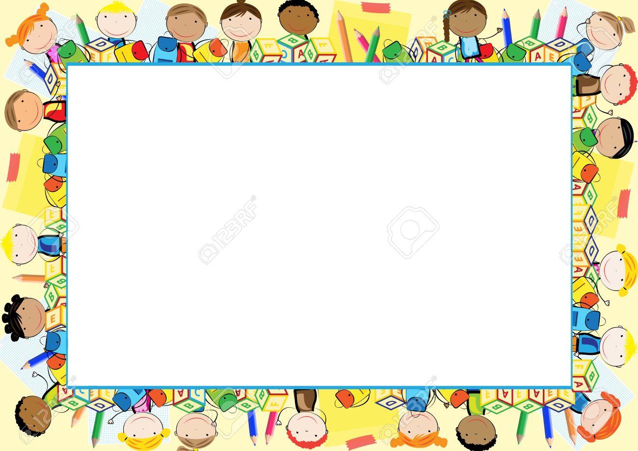 Farbige Rahmen Für Das Schuljahr Lizenzfrei Nutzbare Vektorgrafiken ...