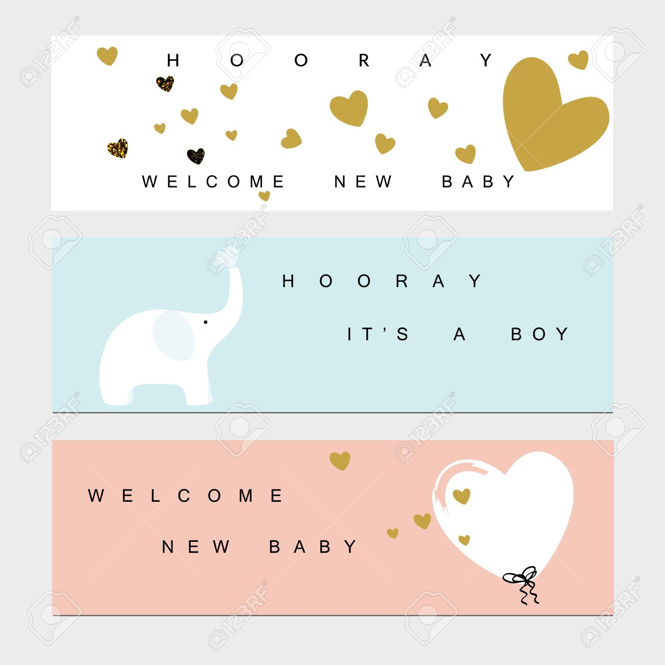 baby shower banners for the baby boy and girl royalty free cliparts