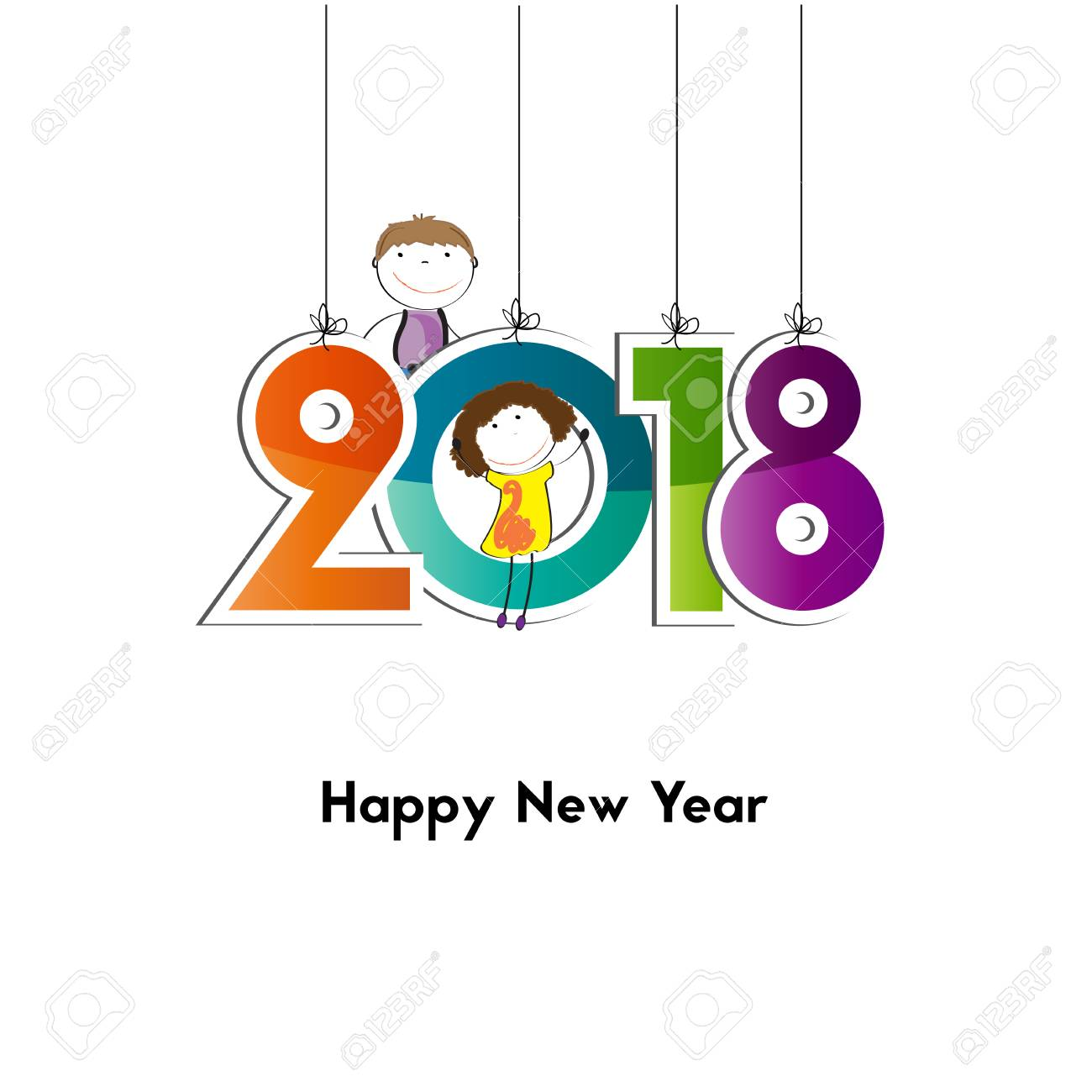 happy new year 2018 background or element of a holidays card stock vector 81565525