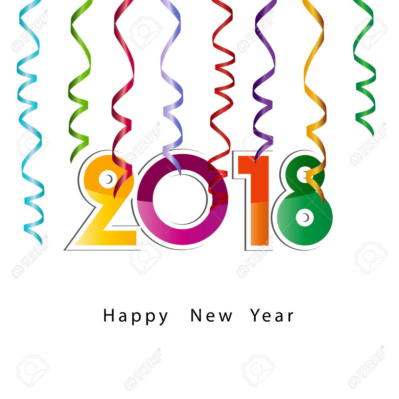 Happy New Year 2018, Background Or Element Of A Holidays Card Stock Vector    81565530