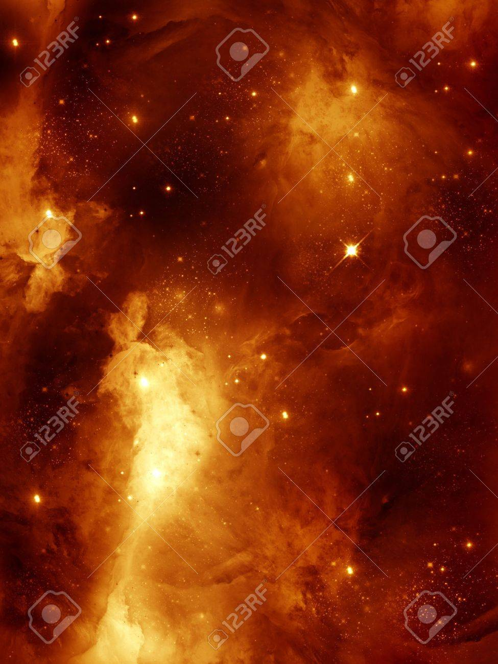 colourful space starfield nebula and planet in red Stock Photo - 14548253