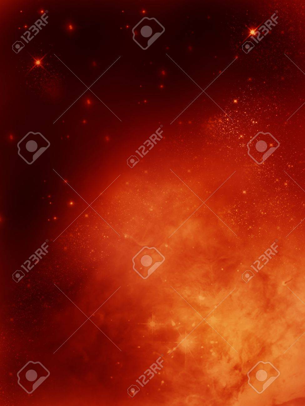 golden fog space starfield  nebula and planet Stock Photo - 14548183