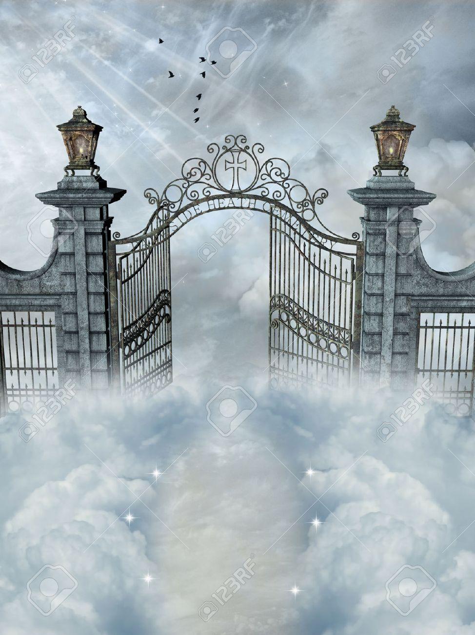 Fantasy Landscape With Open Door In The Heaven