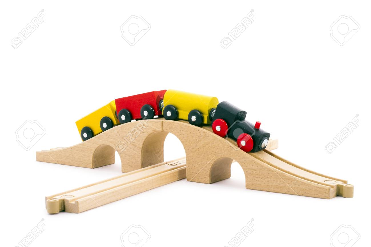 Colourful children's toy railway. Stock Photo - 9943371