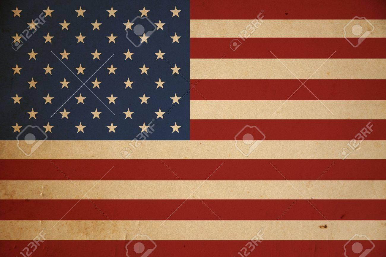 Grunge American flag background. Stock Photo - 8881237