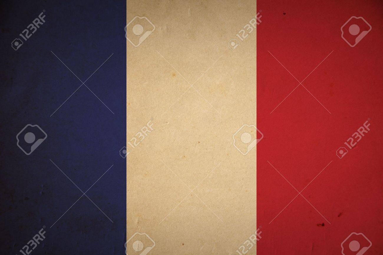 Grunge French flag background. Stock Photo - 8881236