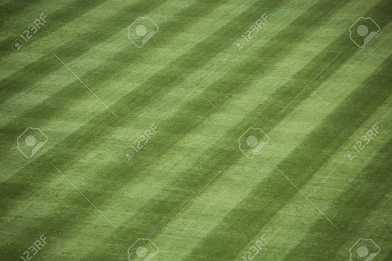 Horizontal shot of manicured outfield grass at a baseball stadium. Stock Photo - 10378937