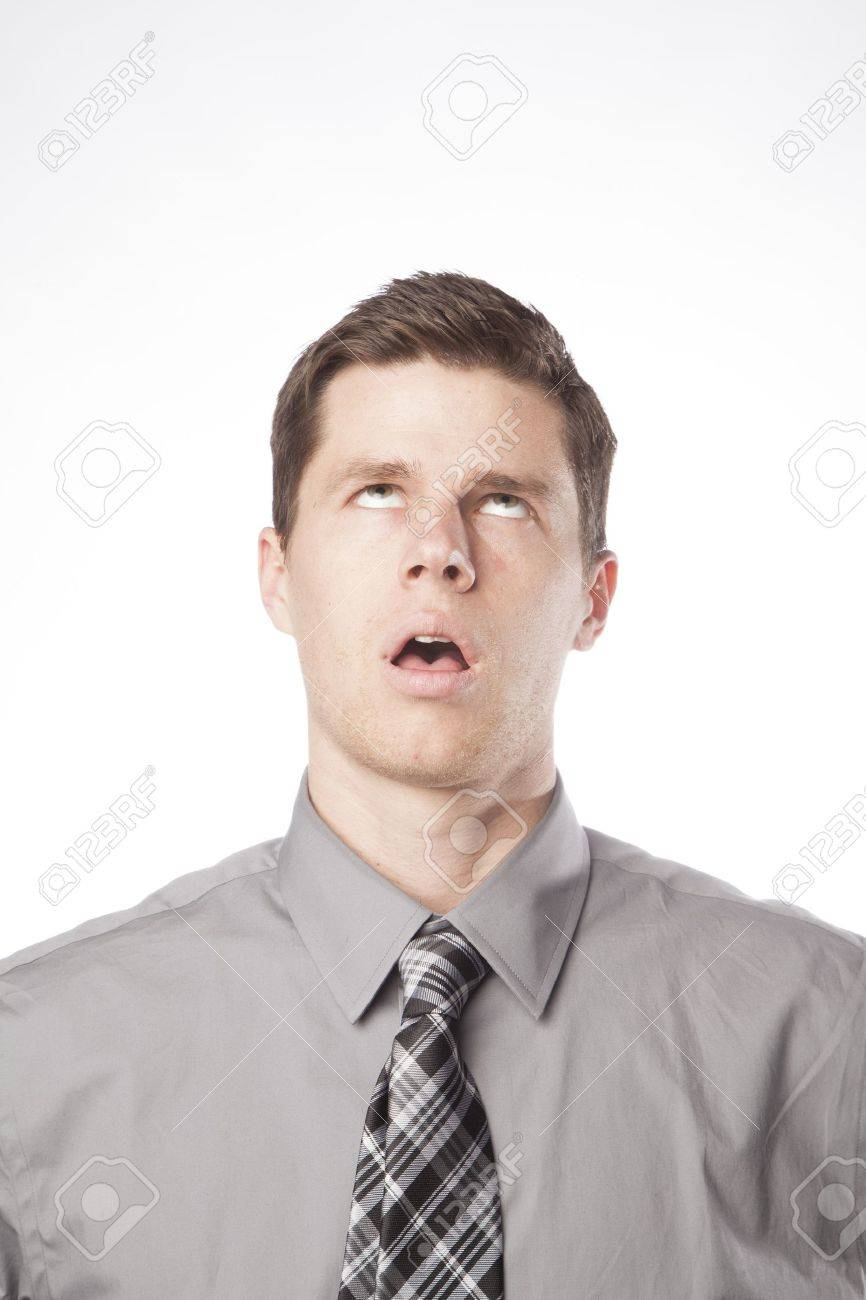 A young business professional expresses frustration and boredom Stock Photo - 17153087
