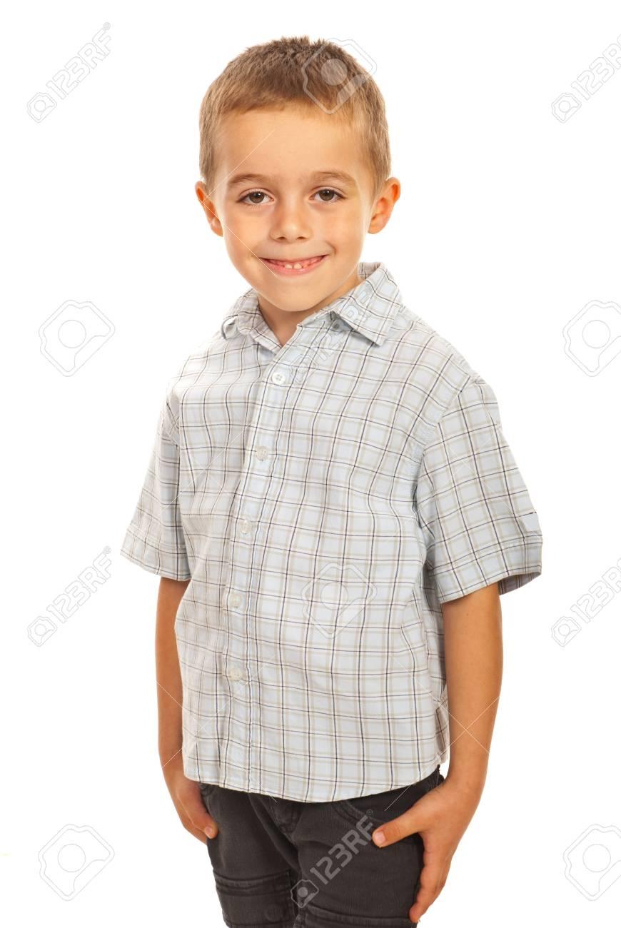 Smiling preschool child isolated on white background Stock Photo - 16063533