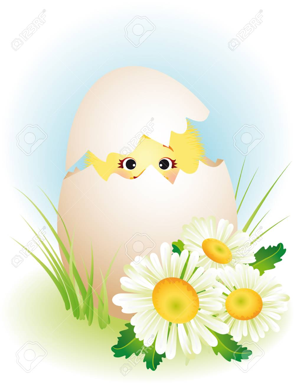 vector illustration - easter greeting card Stock Vector - 2433104