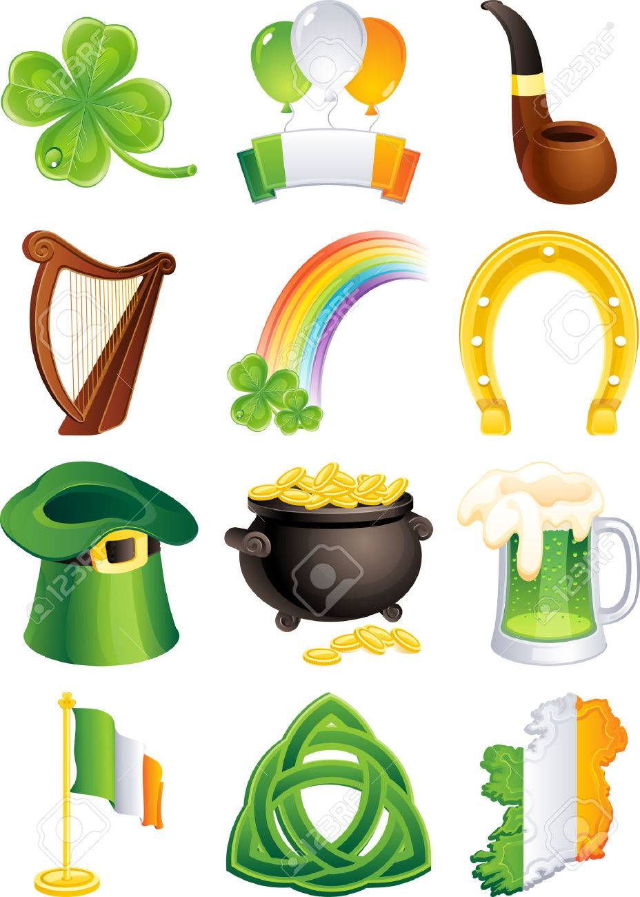 Vector illustration - set of  st. patrick's icon Stock Vector - 4313825