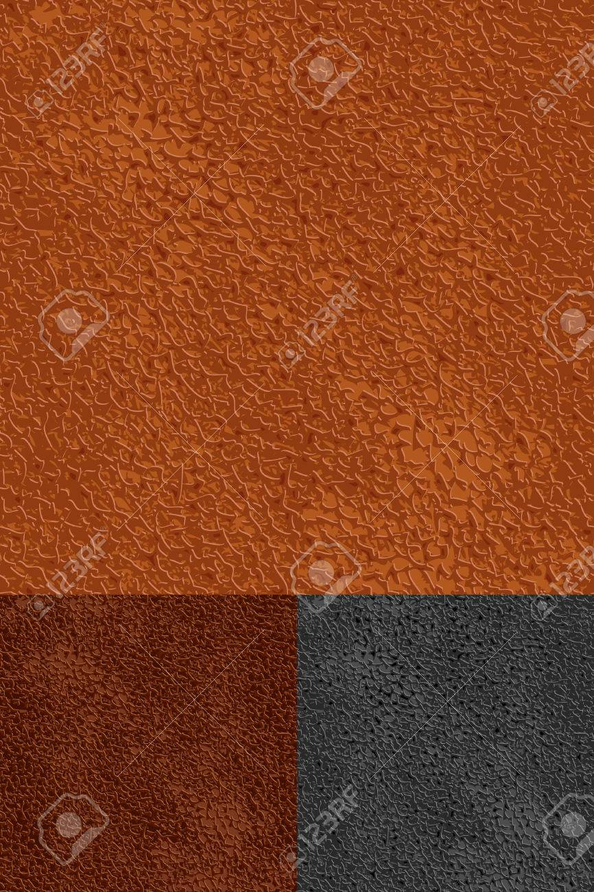 set of leather seamless patterns Stock Vector - 6831995