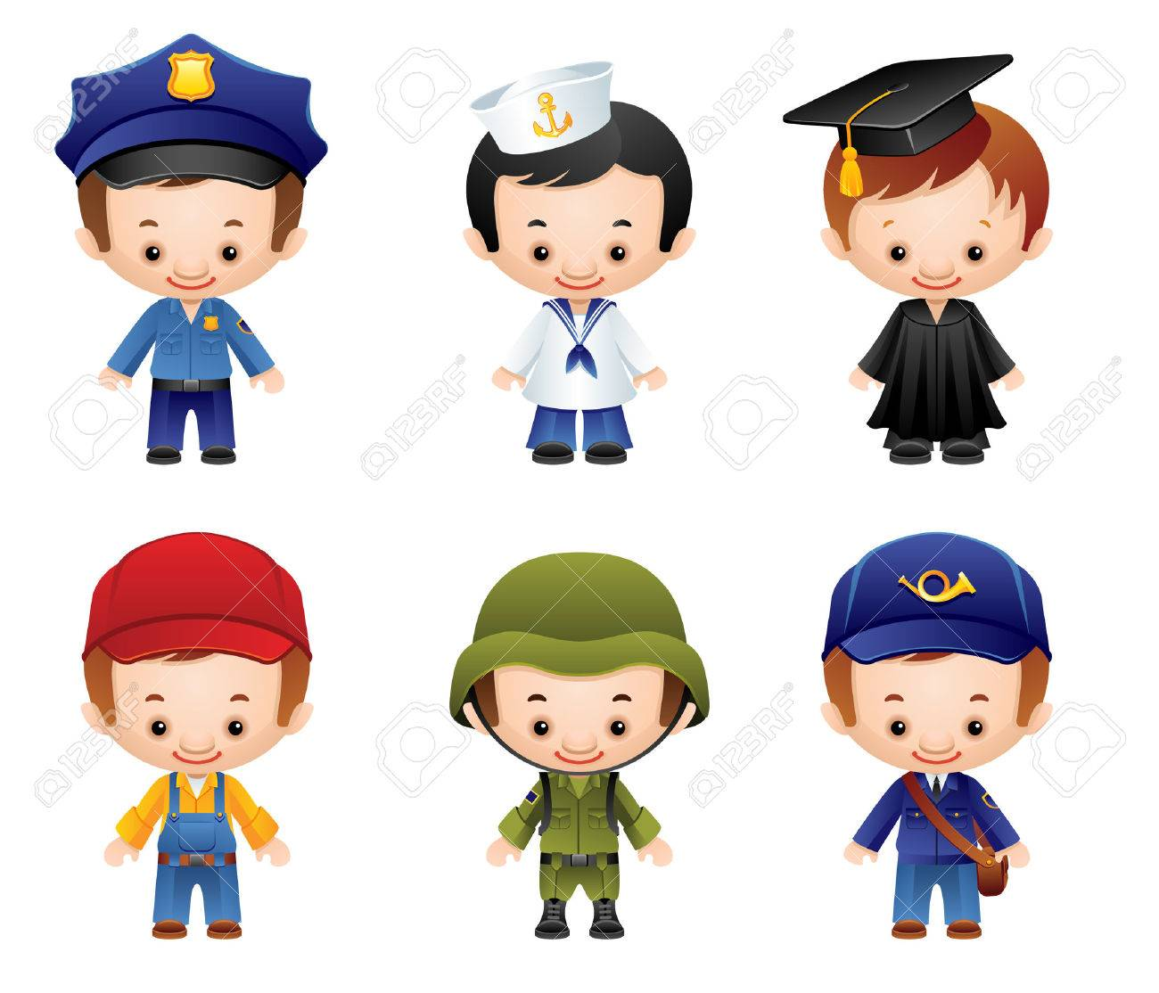 set of people occupations icons Stock Vector - 6831992