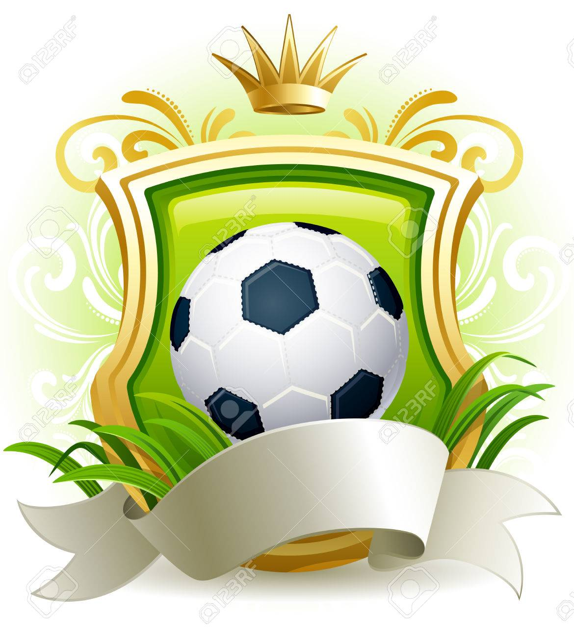 bf2d621780b Illustration - Banners With Soccer Ball