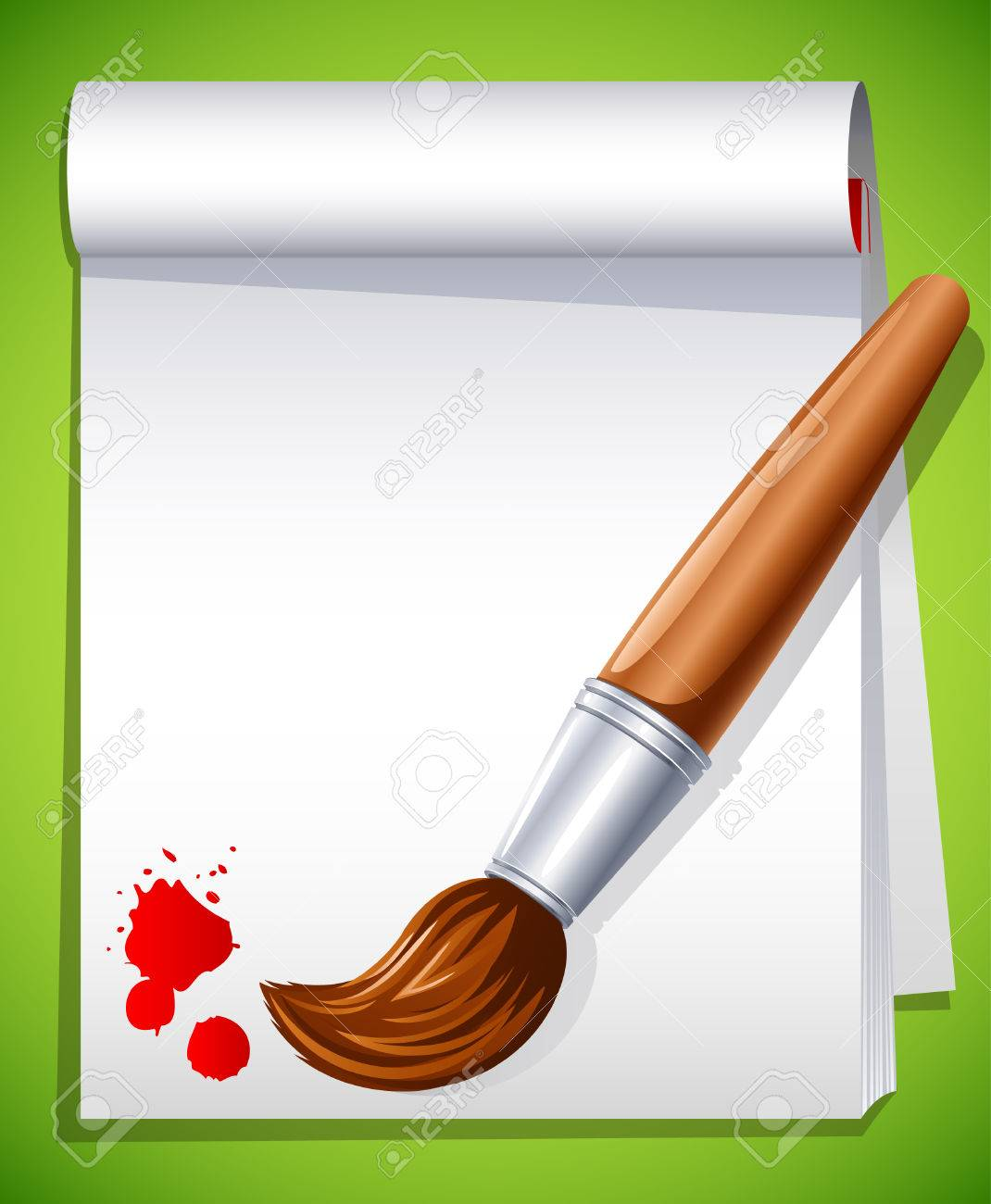 illustration - paintbrush on the drawing pad Stock Vector - 7066663