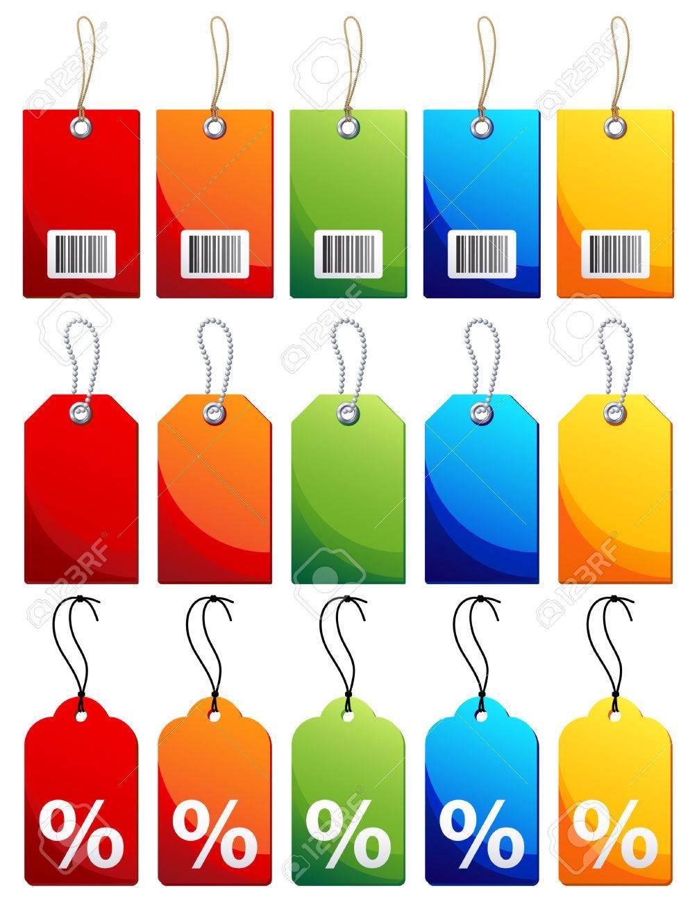 Vector illustration - Colourful label icon set Stock Vector - 7807104