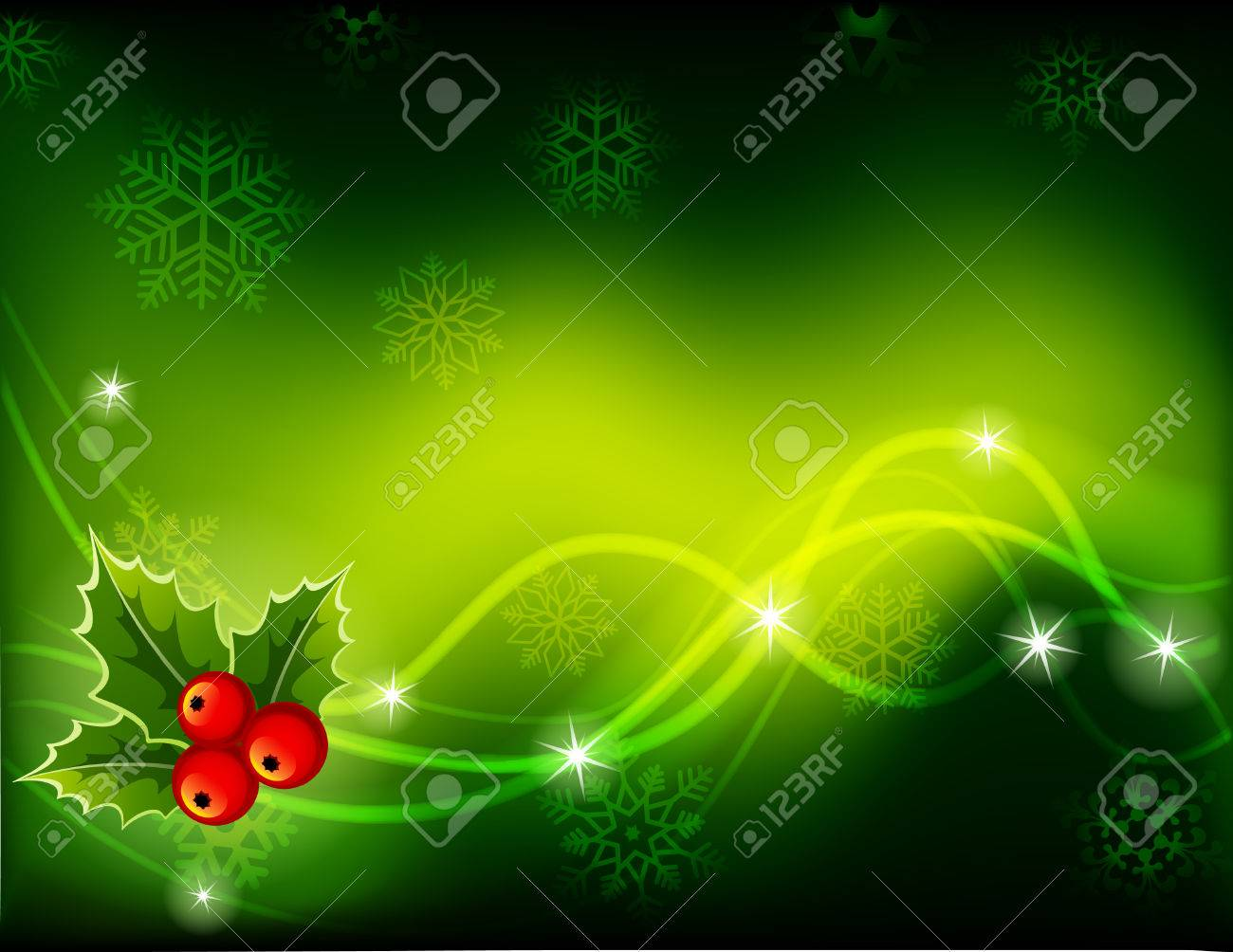 illustration - green Christmas background Stock Vector - 8162791