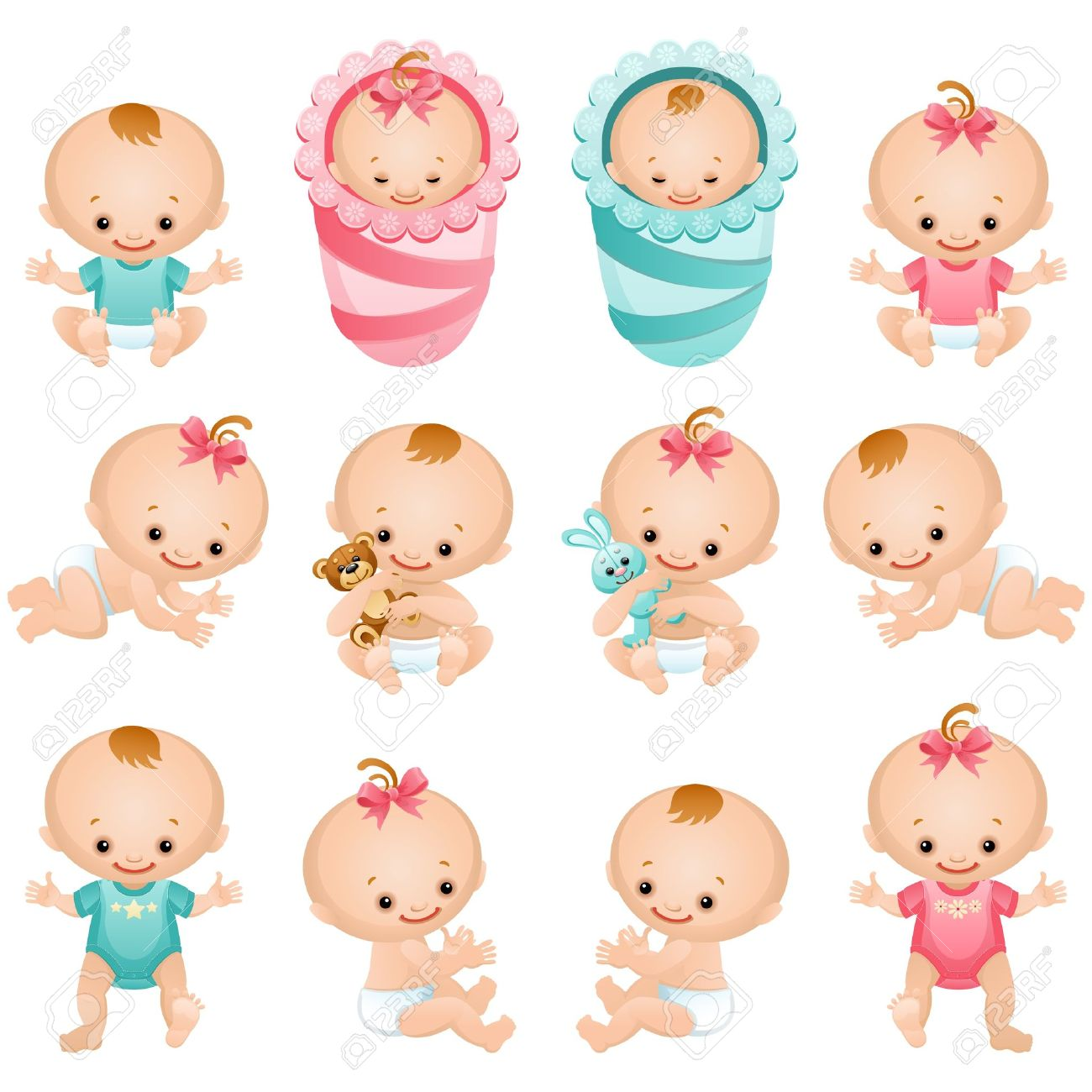 Baby Diaper Illustration Baby Diaper Vector