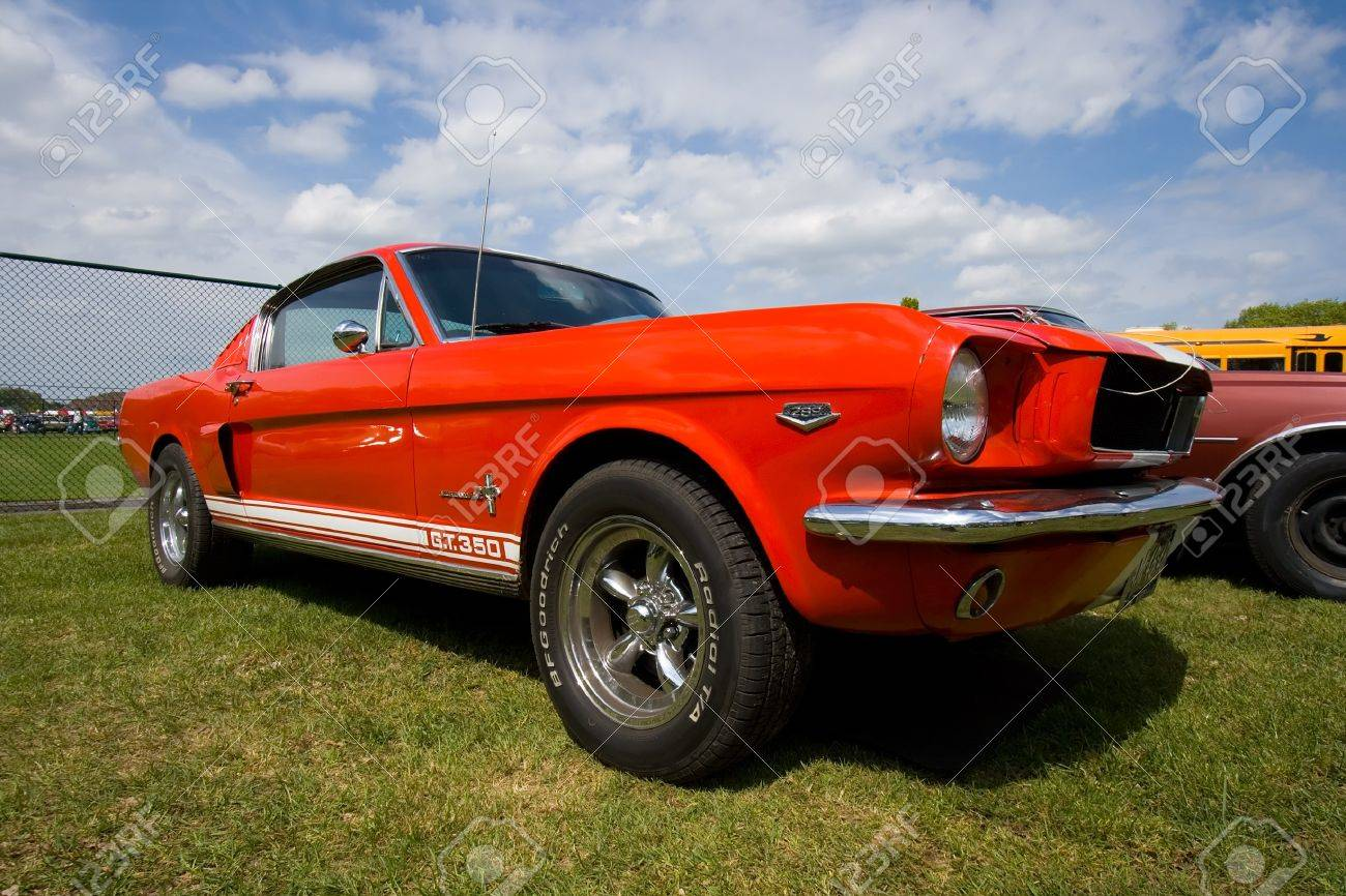 Rosmalen the netherlands may 16 1965 ford mustang on the rock around the