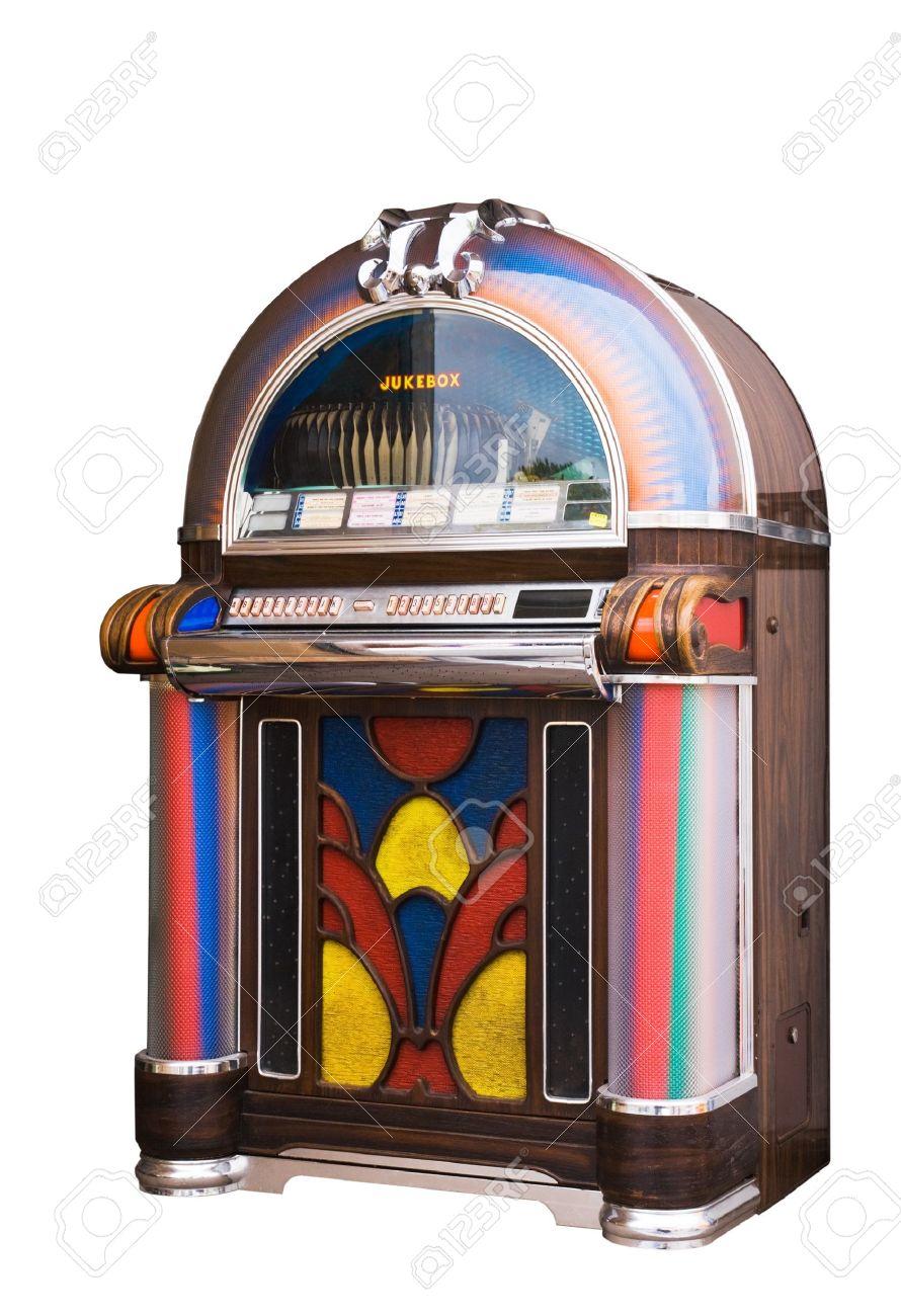 colourful vintage wooden jukebox Stock Photo - 7671465
