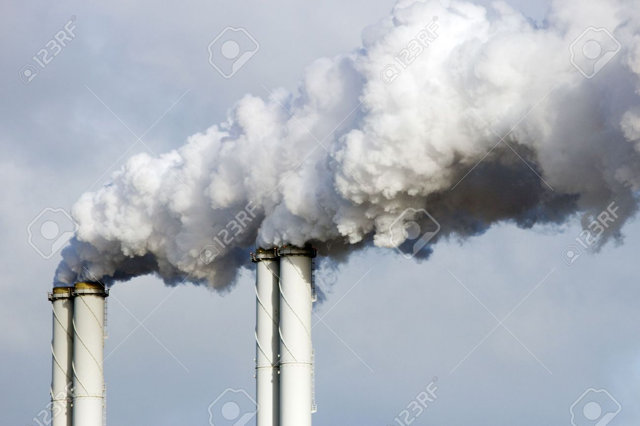 Factory pipes smoke emission - 21691620