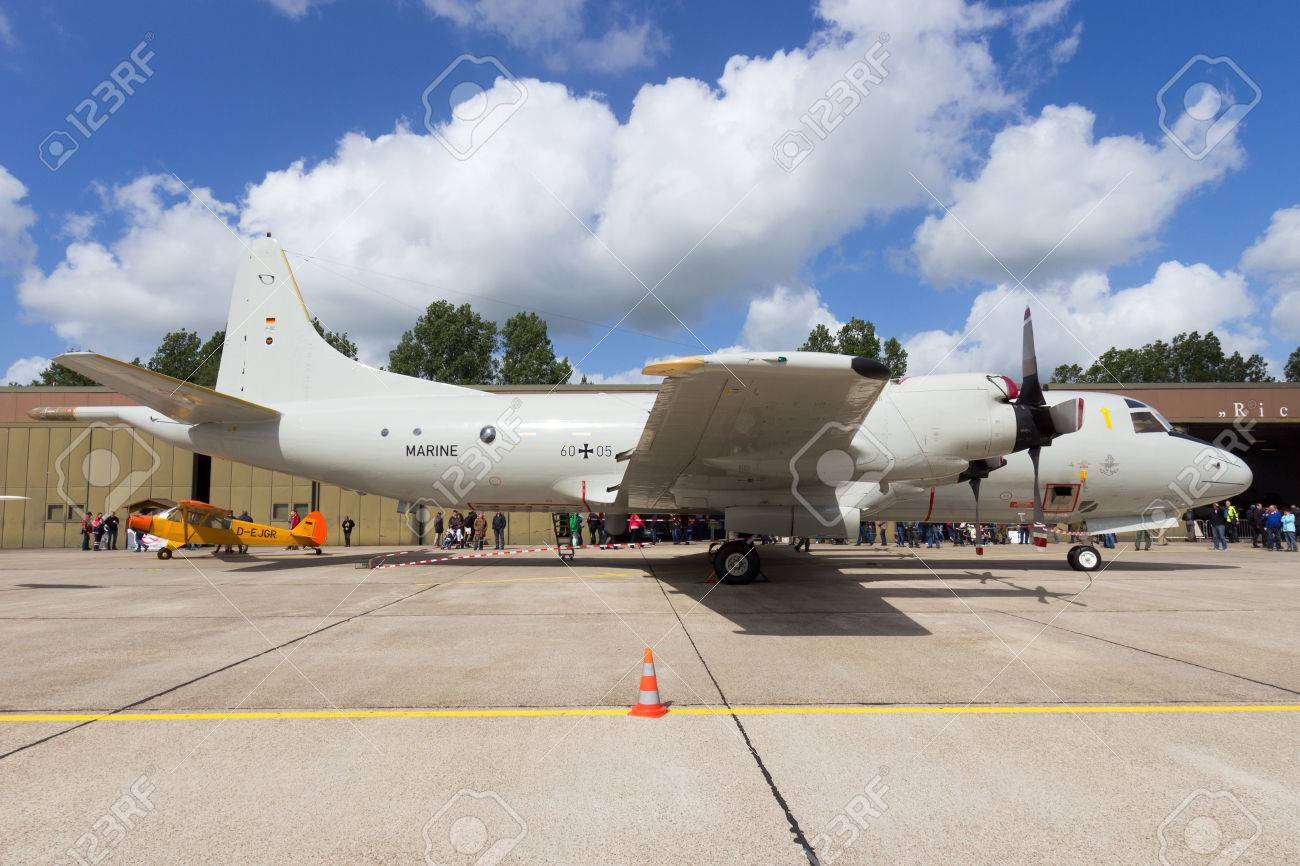 wittmund germany june 29 2013 german navy p 3 orion aircraft