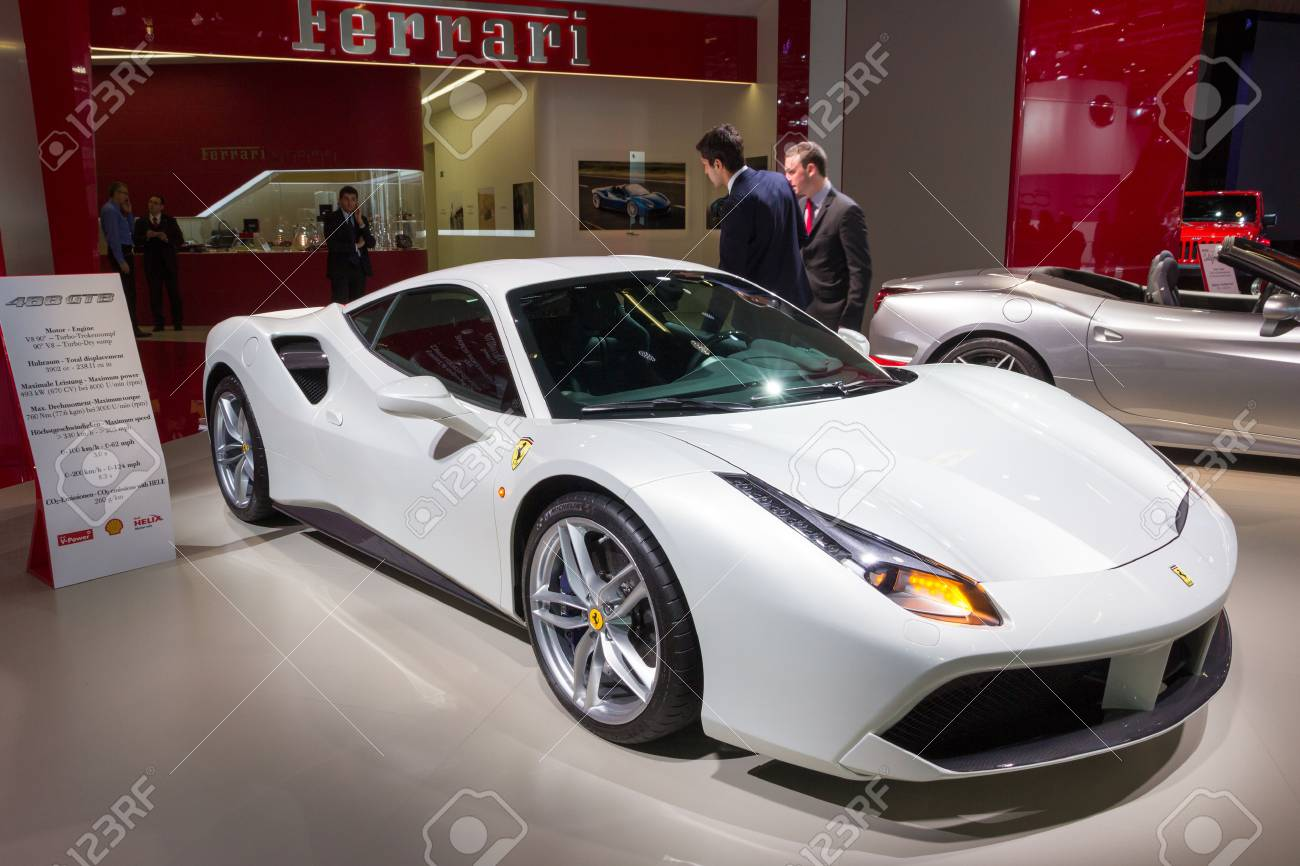 Frankfurt Germany Sep 16 2015 2016 Ferrari 488 Gtb Spider Stock Photo Picture And Royalty Free Image Image 45925398