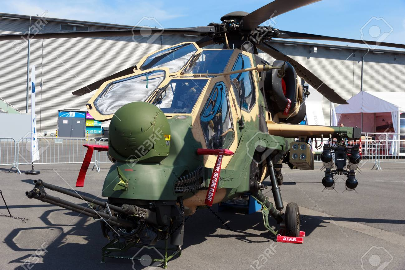 Elicottero T 129 : Berlin germany may 21: turkish aerospace industries t129 attack