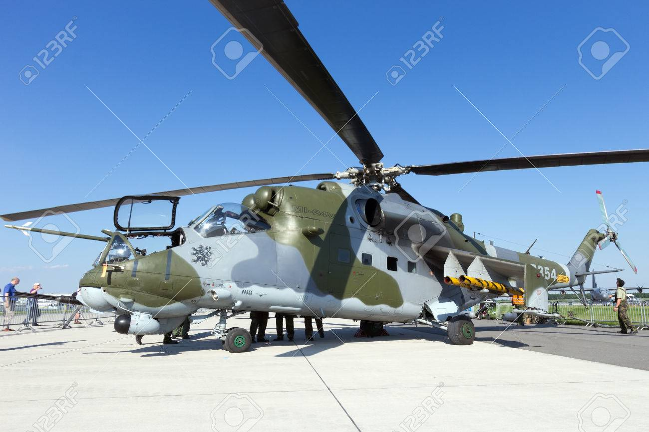 Elicottero T 129 : Berlin germany may 22: russian made mi 24v attack helicopter
