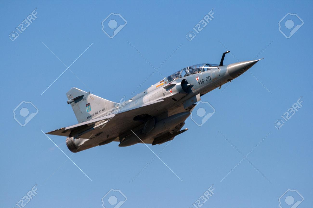ORANGE, FRANCE - JUN 24, 2010: French Air Force Mirage 2000 taking