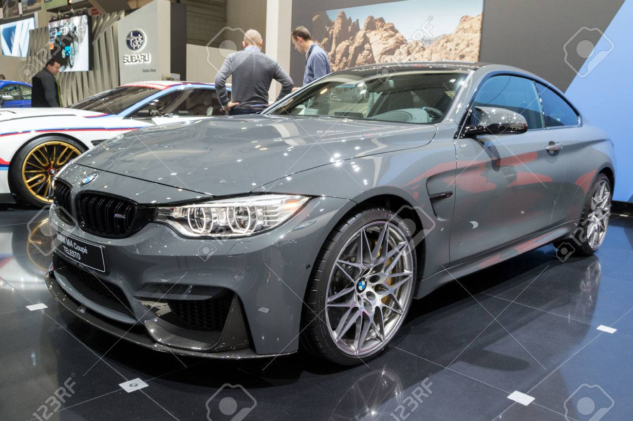 brussels - jan 19, 2017: bmw m4 coupe telesto car at the motor