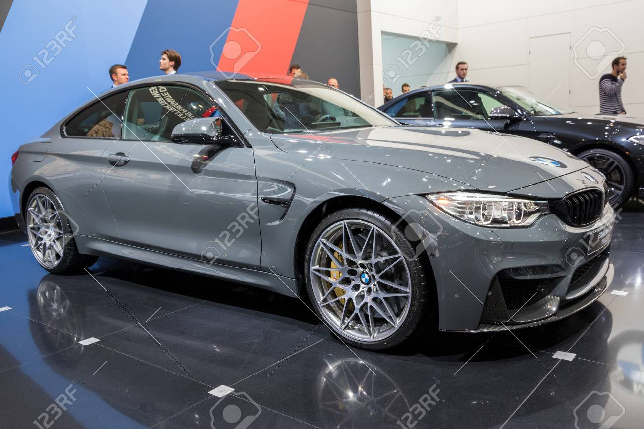 BMW M4 Coupe >> Brussels Jan 19 2017 Bmw M4 Coupe Telesto Car At The Brussels