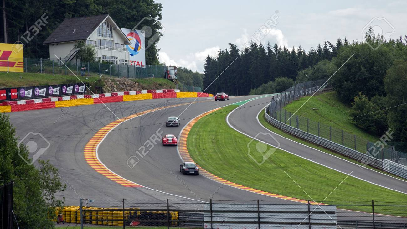 Spa Belgium Aug 5 2014 Part Of The Spa Francorchamps Race
