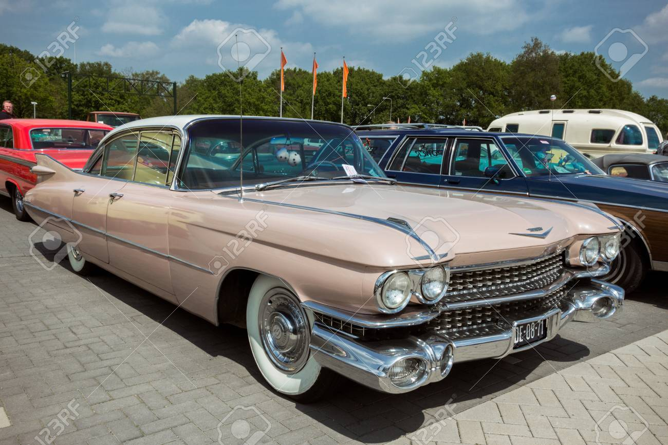 Den Bosch The Netherlands May 10 2015 Pink 1959 Cadillac