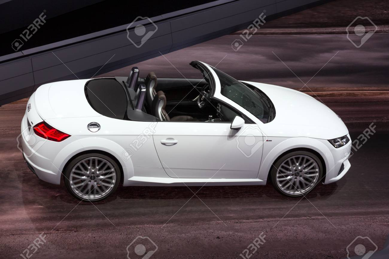 Frankfurt Germany Sep 16 2015 Audi Tt 2 0 Tdi Ultra Convertible Stock Photo Picture And Royalty Free Image Image 83707973