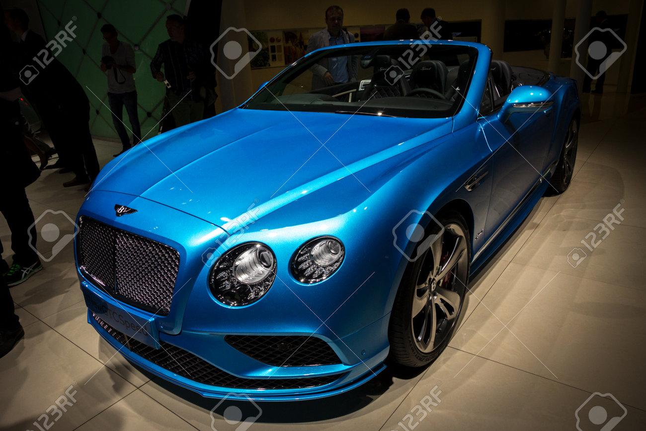 FRANKFURT, GERMANY - SEP 16, 2015: Bentley Continental GT Speed ...
