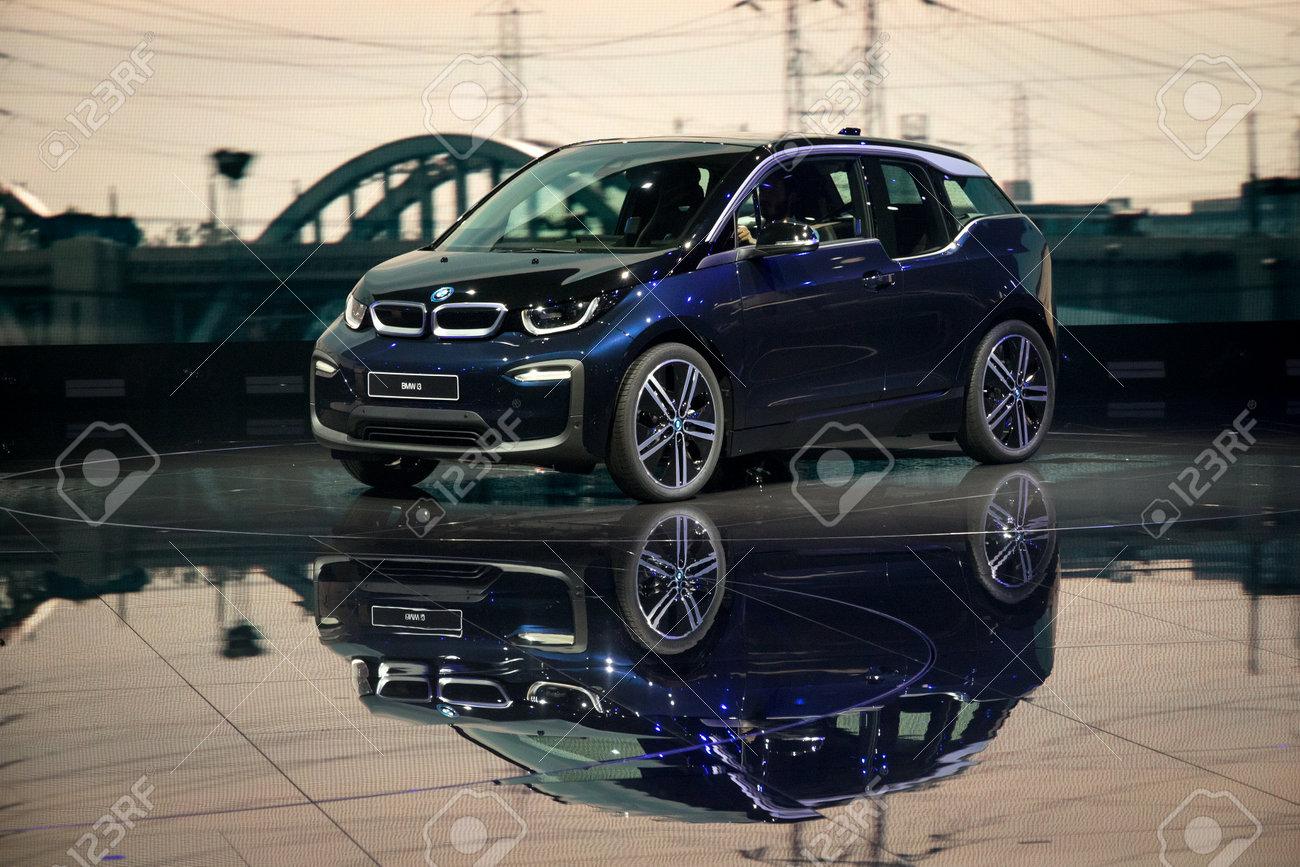 Frankfurt Germany Sep 13 2017 New 2018 Bmw I3 Electric Car