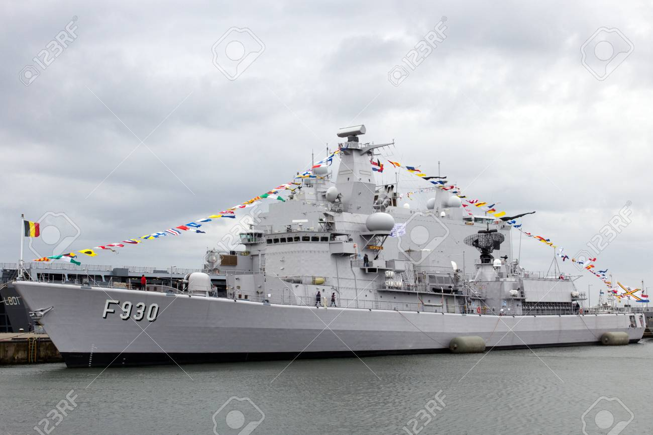 Den Helder The Netherlands June 23 Belgian Navy Frigate F930 Stock Photo Picture And Royalty Free Image Image 86600564