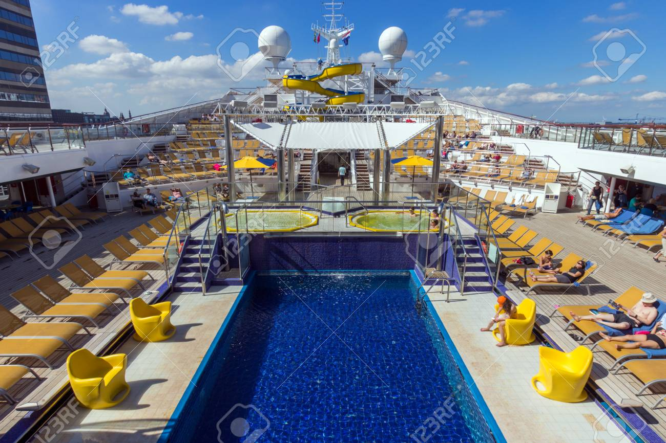 Amsterdam Sep 2 2014 Deck On The Costa Fortuna Cruise Ship Stock Photo Picture And Royalty Free Image Image 90288548