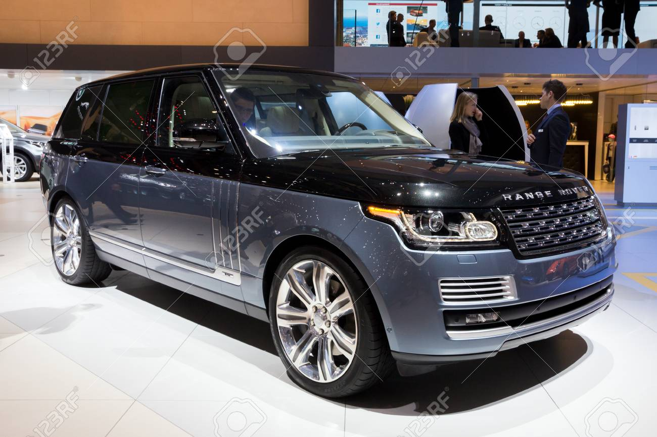 Geneva Switzerland March 1 2016 Land Rover Range Rover Suv