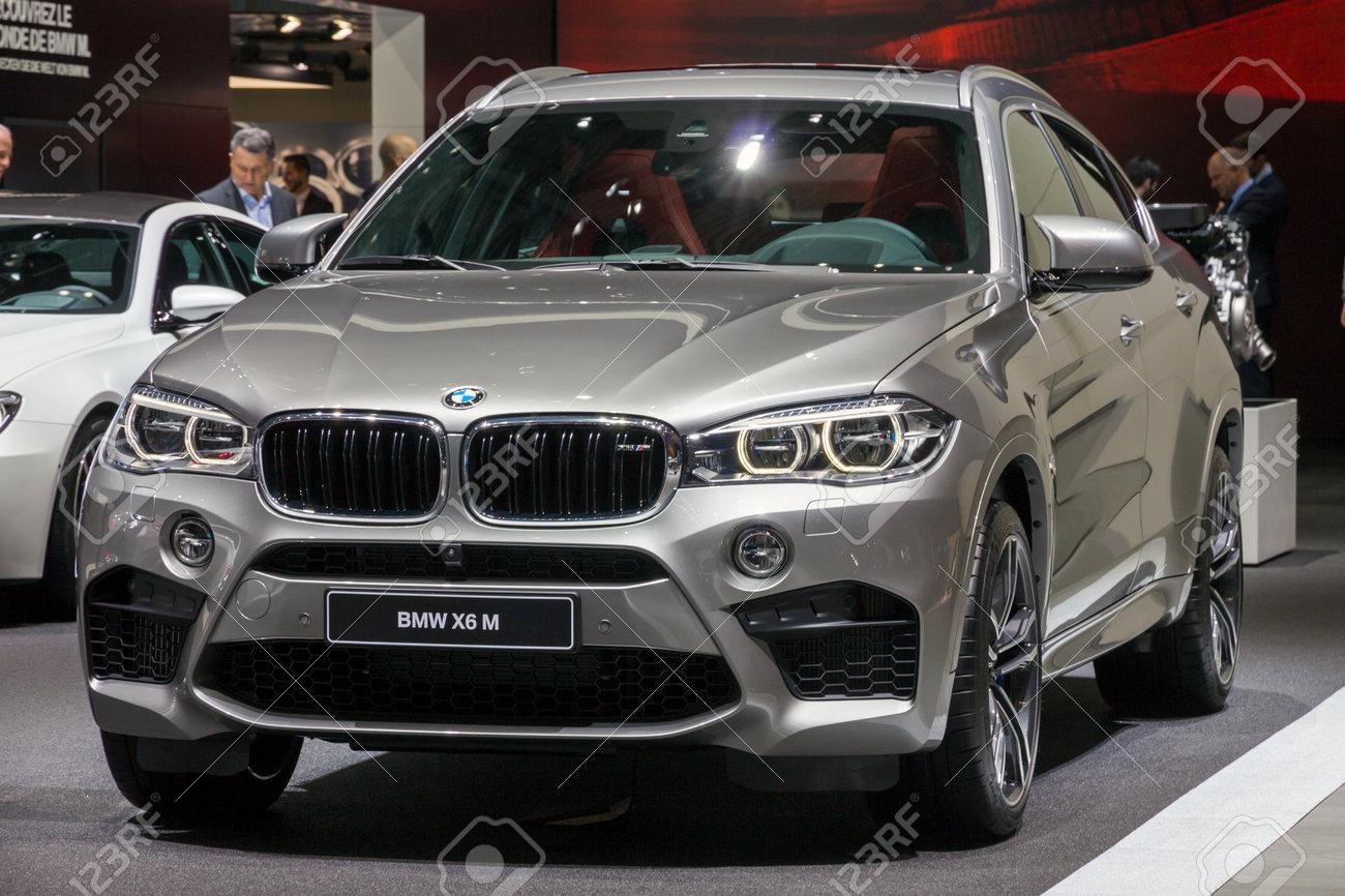 Bmw X6 M 2016 >> Geneva Switzerland March 1 2016 Bmw X6 M Suv Car Showcased