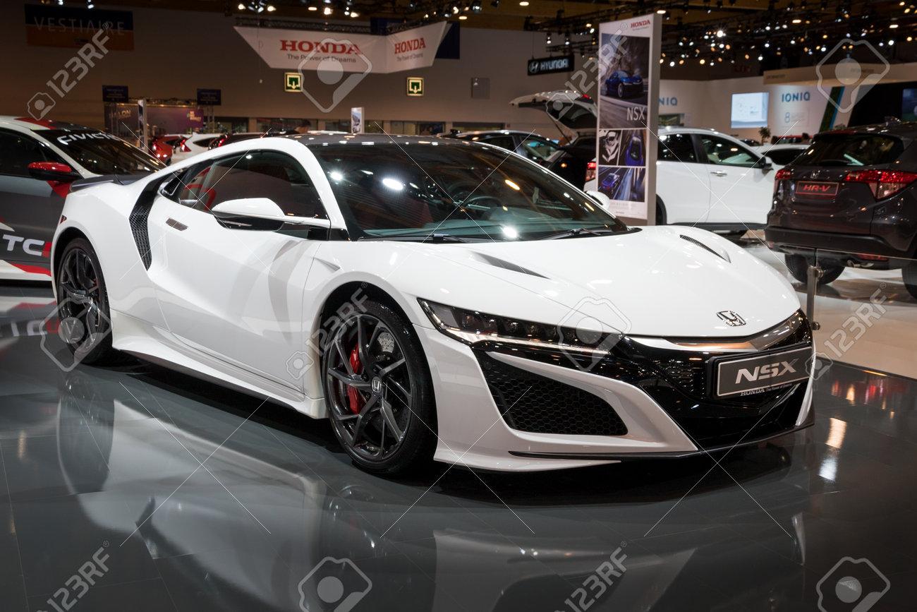Brussels Jan 10 2018 Honda Nsx Sports Car Showcased At The