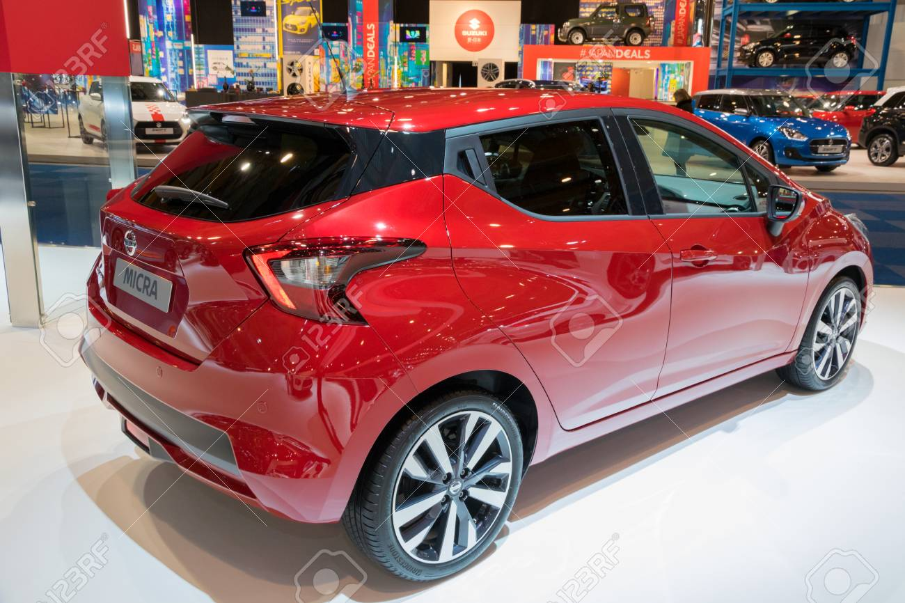 Nissan Micra 2018 >> Brussels Jan 10 2018 Nissan Micra Car Showcased At The Brussels