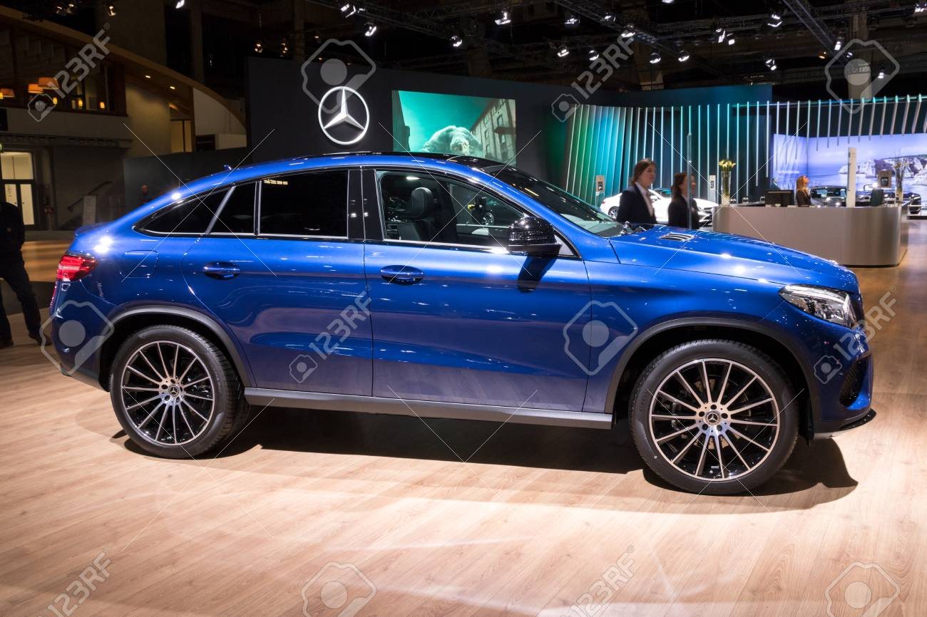 Brussels Jan 10 2018 Mercedes Benz Gle Coupe Car Showcased