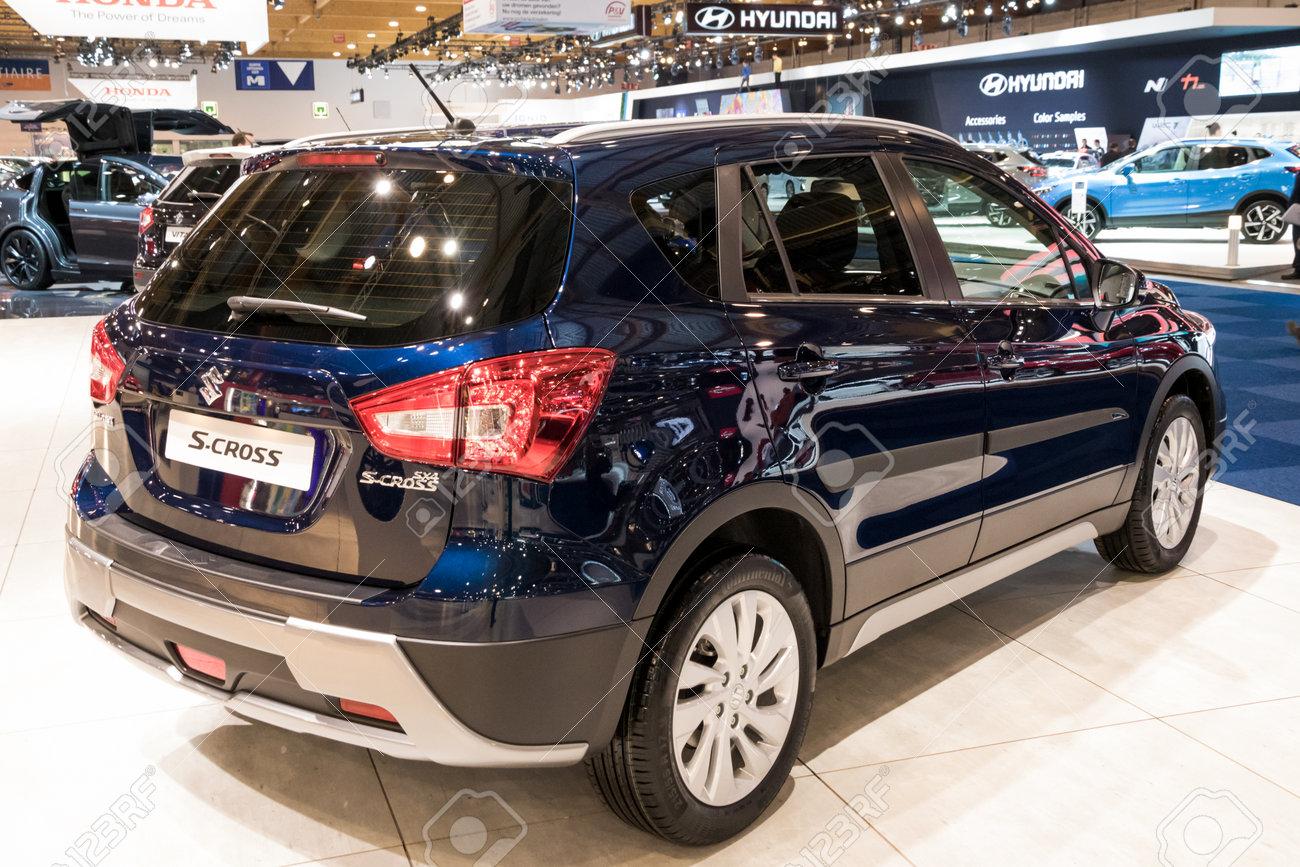 Brussels Jan 10 2018 Suzuki S Cross Crossover Suv Car Shown