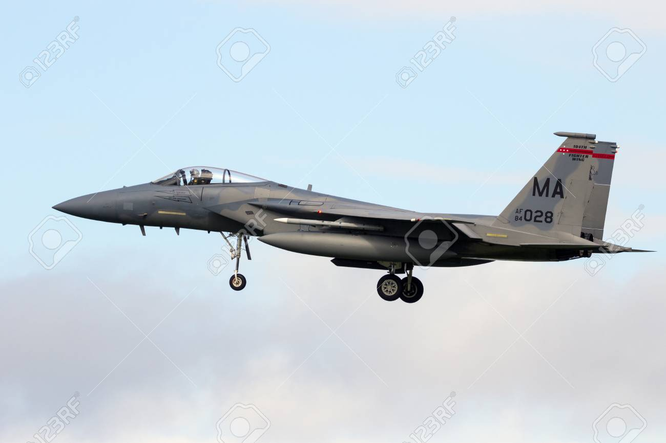 leeuwarden netherlands apr 7 2016 us air force f 15 eagle