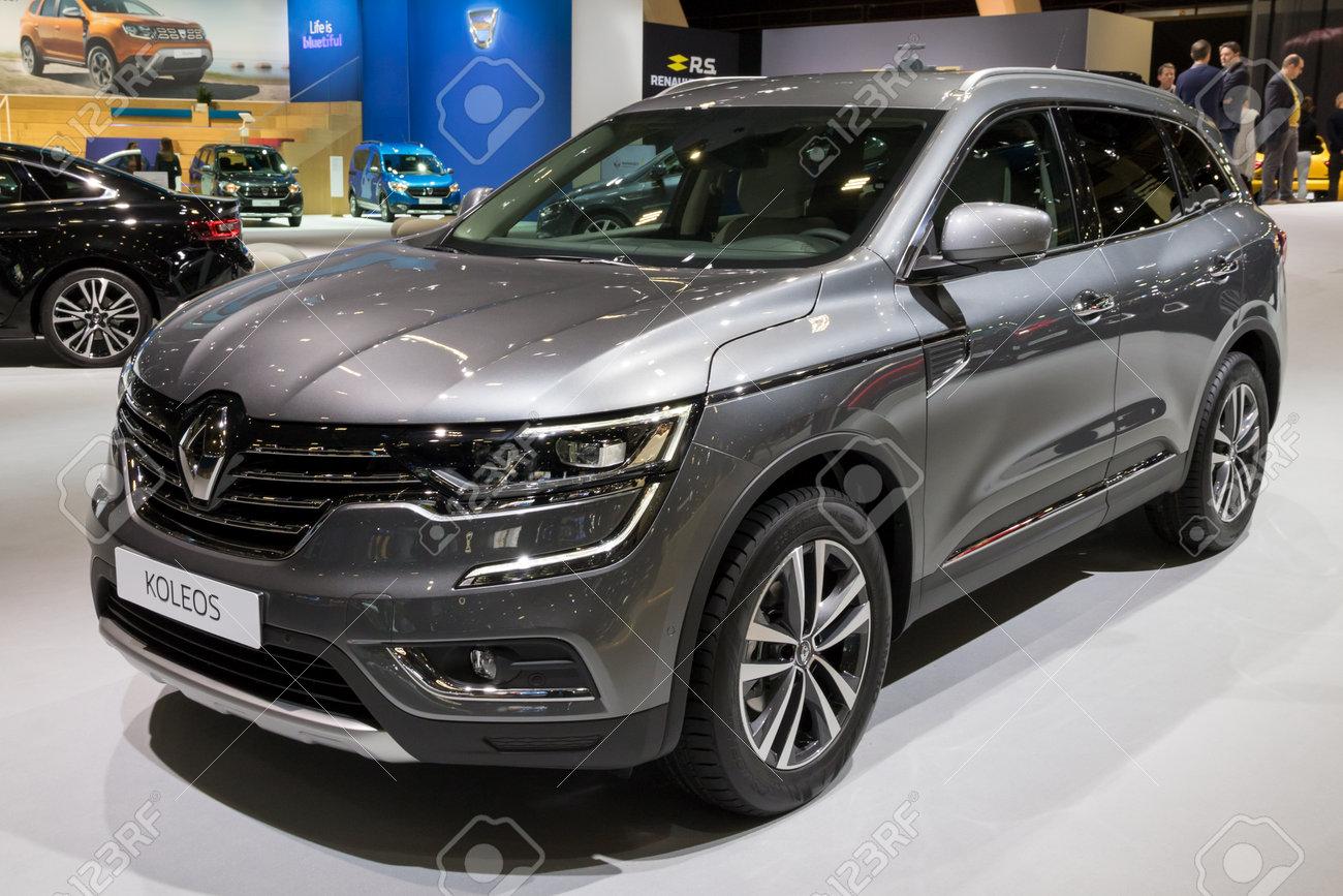 Brussels Jan 10 2018 Renault Koleos Suv Car Shown At The Stock