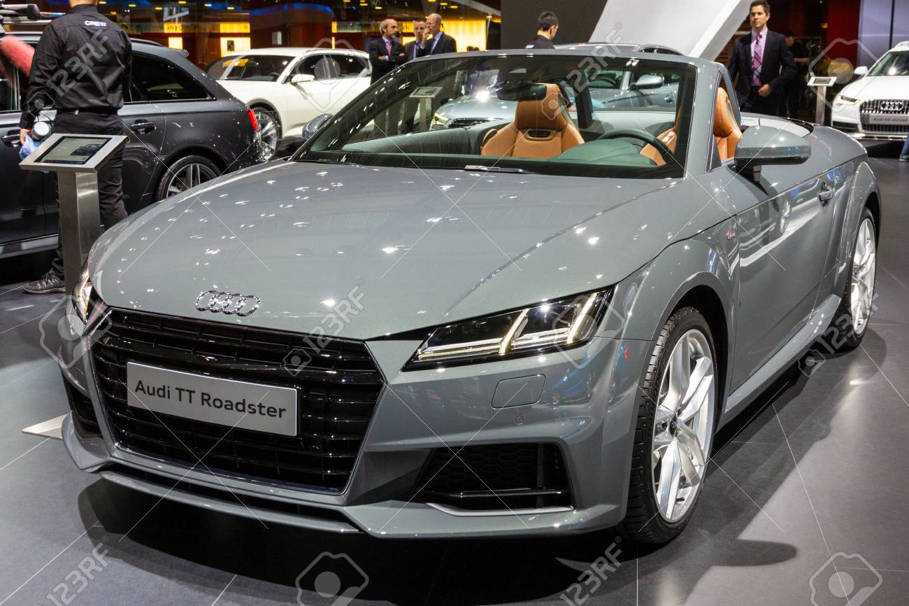 Brussels Jan 12 2016 Audi Tt Roadster Car Showcased At The Stock Photo Picture And Royalty Free Image Image 107733688