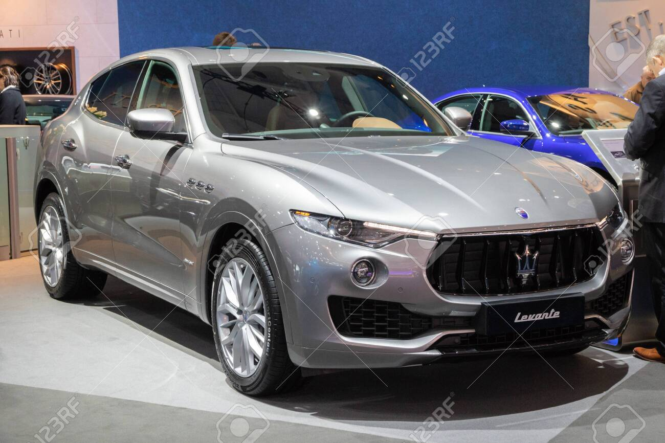 Brussels Jan 10 2018 Maserati Levante Mid Size Luxury Crossover Stock Photo Picture And Royalty Free Image Image 115974160