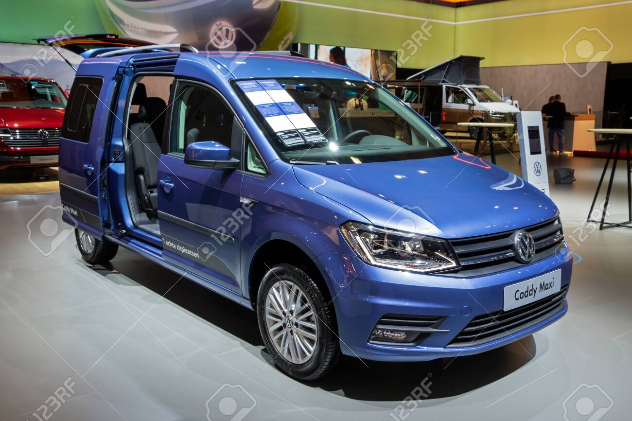 Brussels Jan 9 2020 New Volkswagen Caddy Maxi Kombi Van Model Stock Photo Picture And Royalty Free Image Image 139965351